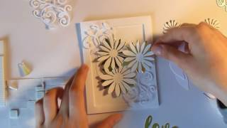 Card Making With Only Die Cuts|| White & Gold!