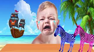 Learn Colors With Zebra And Gorilla | Learn Colors with Crying Baby And Zebra