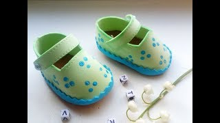 Как сделать обувь для кукол. Подробный урок.туфельки для куклы из фоамирана