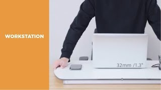 Premium Ultra-Slim Pneumatic Desktop Sit-Stand Workstation