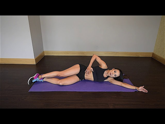 Side Laying Single Leg Stretch