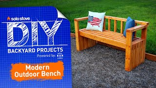 Make A Beautiful OUTDOOR BENCH | Solo Stove DIY Project Series