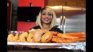 Seafood Boil 5 ⚠ Smacking NoisesMessy EatingKing CrabLobsterShrimp