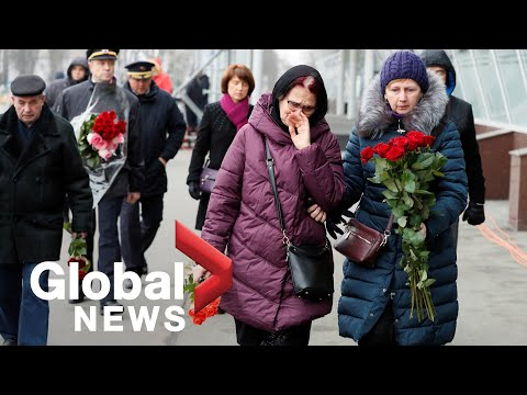 Iran plane crash: Memorial held at Kyiv airport for victims after bodies returned to Ukraine
