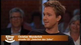 Christian Wunderlich - Interview in der Talkshow Kölner Treff