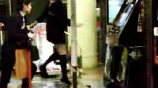 Japanese Girl In Mini-skirt Dance Dance Revolution