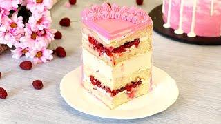НА ОДНОМ КУСОЧКЕ НЕ ОСТАНОВИТЕСЬ! ☆ ТОРТ-МУСС МАЛИНА-МЁД ☆ Cake Mousse Raspberry Honey ☆ Марьяна