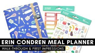 ERIN CONDREN PETITE MEAL PLANNER | Walk-Through And First Impressions