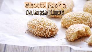 Biscotti Regina - Eggless Italian Sesame Cookies Recipe - Reginelle Recipe