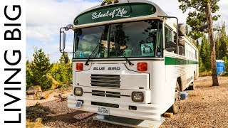 Young Family Live In Beautiful Converted School Bus To Travel North America - Video Youtube