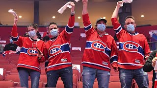 Bell Centre erupts singing O Canada