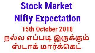 Stock Market Expectation 15th October 2018 | Tamil Share