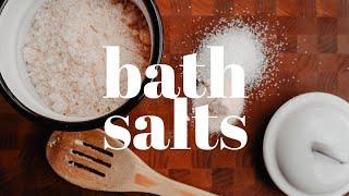 HOMEMADE BATH SALTS RECIPE | DIY Bath Salts + Essential Oil Blends