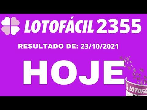 LOTOFCIL 2355 - RESULTADO DA LOTOFACIL CONCURSO 2355