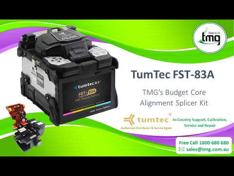 Video: Tumtec FST-83A Single Core Fusion Splicer and Cleaver Kit