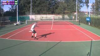 preview picture of video 'Christophe (15) vs Didier (3/6) - 4e tour Mesnil St Denis - Tricky Shot - 17/09/2012'