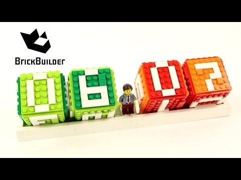 Vidéo LEGO Objets divers 40172 : Calendrier en briques LEGO