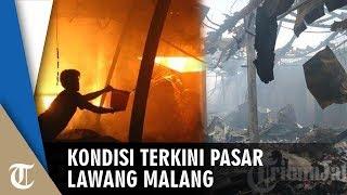 Asap Masih Terlihat setelah Semalam Pasar Lawang Malang Dilahap Si Jago Merah