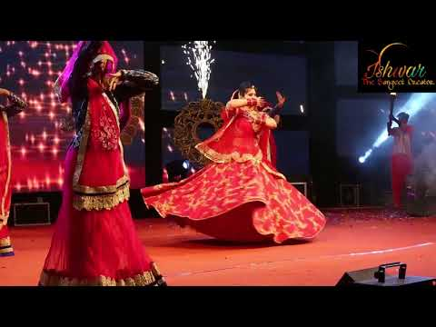 Best Ghoomar dance performance in sangeet create by ishwar the Sangeet creator  team