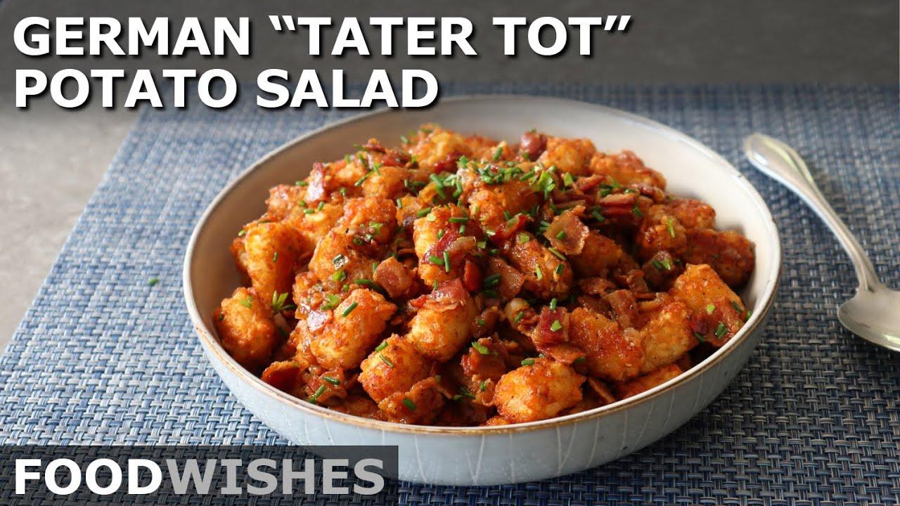 German Tater Tot Potato Salad - Food Wishes