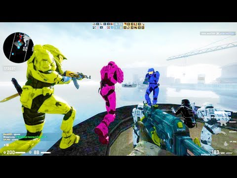 Counter Strike Global Offensive - Zombie Escape mod online gameplay on Icecap Escape map