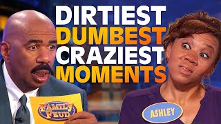 WATCH TILL THE END! 2019's DIRTIEST, DUMBEST & CRAZIEST MOMENTS! | Family Feud