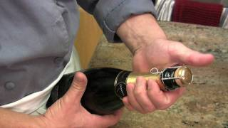 When to open champagne bottle