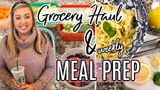 GROCERY HAUL | WEEKLY MEAL PREP | BREAKFAST, LUNCH, SNACKS| JESSICA O'DONOHUE