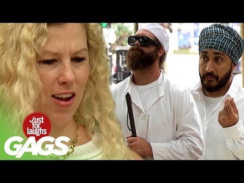 Catapulting Stranger's Food ft. Harley Morenstein, Matthew Santoro, and JusReign