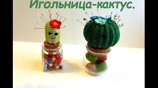 Мастер класс Вязаный крючком  ИГольница- Кактус.