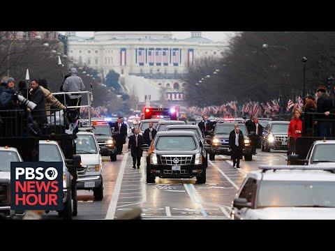 President Donald Trump's motorcade heads to White House