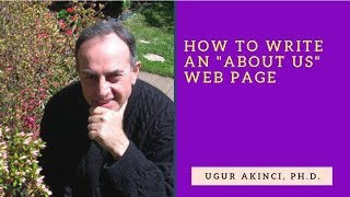 How to write an ABOUT US Web Page