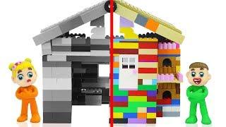 SUPERHERO BABY BUILDS LEGO PLAYHOUSE 💖 Cartoons Play Doh Stop Motion