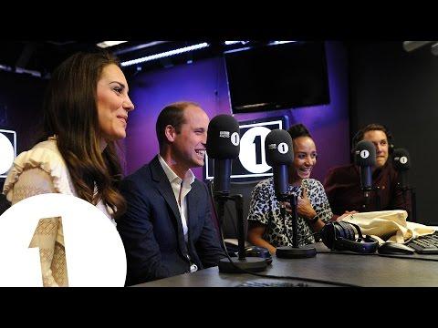 The Duke and Duchess of Cambridge surprise Radio 1's Adele Roberts