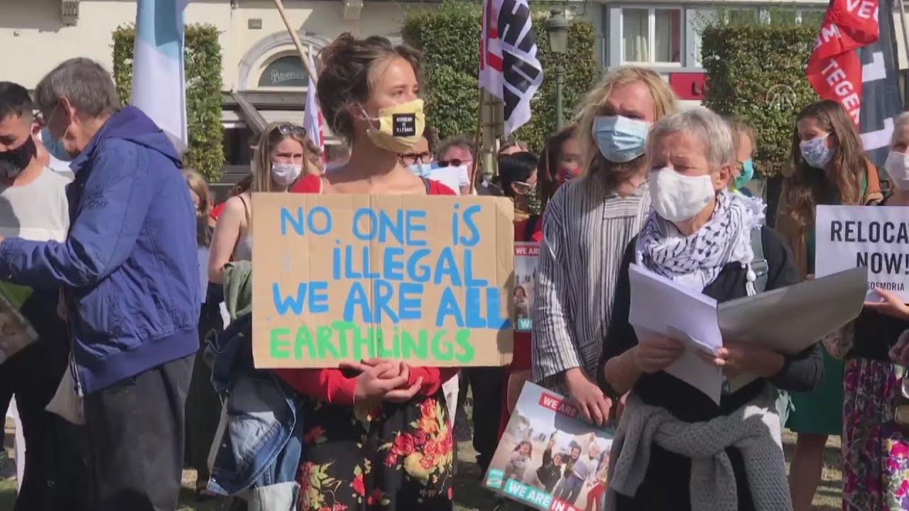 Βέλγιο: Εκατοντάδες διαδηλώνουν  μετά το κάψιμο του προσφυγικού καταυλισμού της Μόριας στη Λέβο