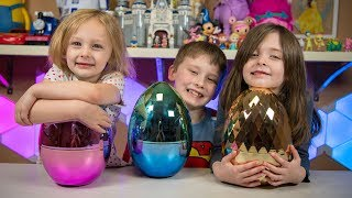HUGE Easter Egg Surprise Toys Opening Toy Eggs Blind Bags Toys for Boys and Girls Kinder Playtime