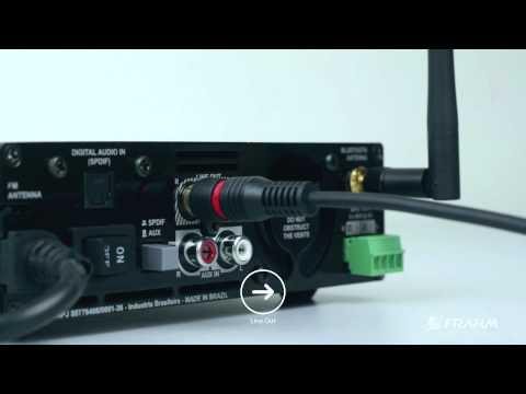 Amplificador estéreo RD80 da Frahm