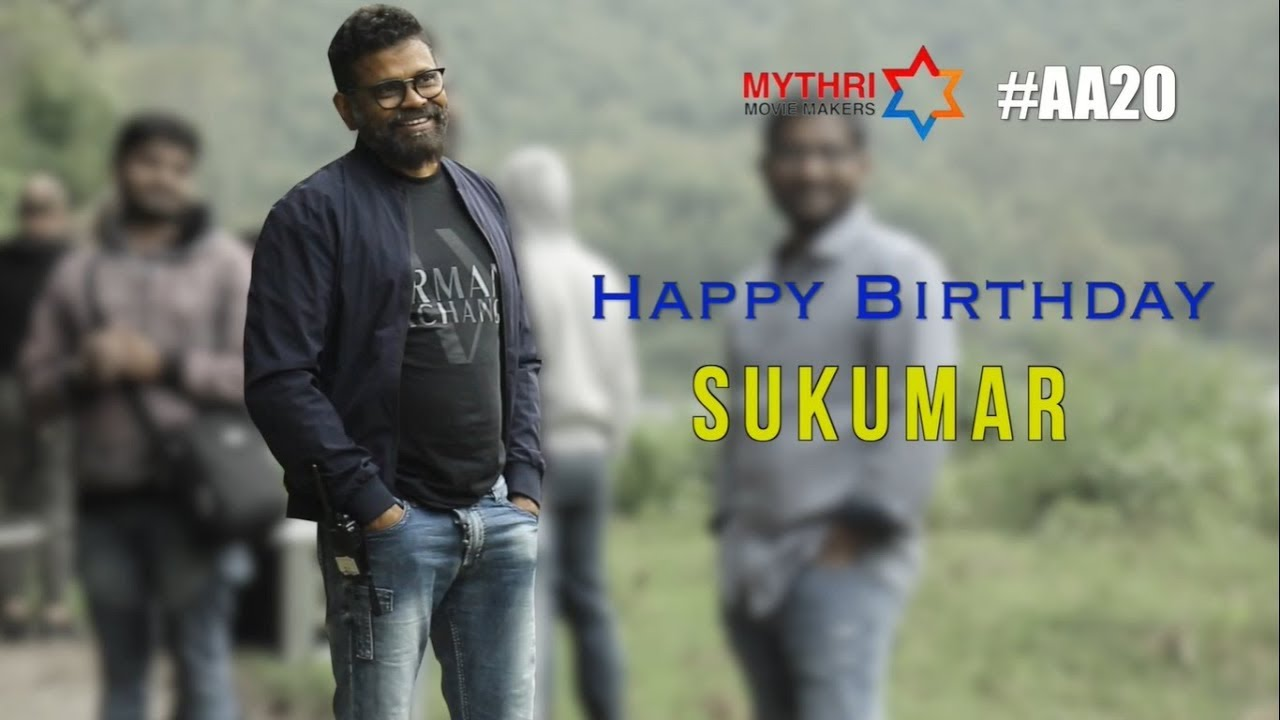 Birthday Wishes to Director Sukumar from Team #AA20