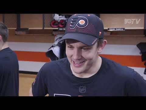 James Van Riemsdyk Postgame Interview vs. Islanders (9/17/18) (FlyersTV)