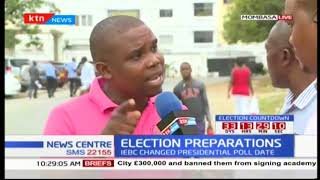 Mombasa residents react to the change of election date