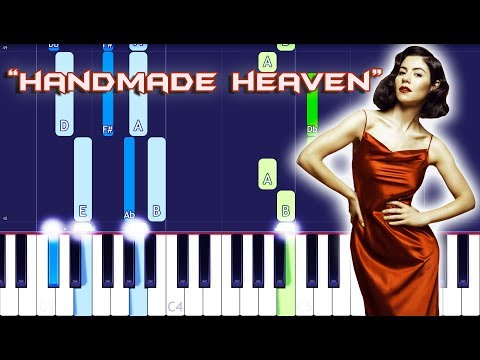 MARINA - Handmade Heaven Piano Tutorial EASY (Piano Cover)