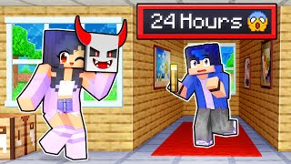SCARING My Friends for 24 HOURS in Minecraft!
