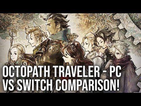 [4K] Octopath Traveler: PC vs Switch Graphics Comparison - 60fps and 4K Unleashed!