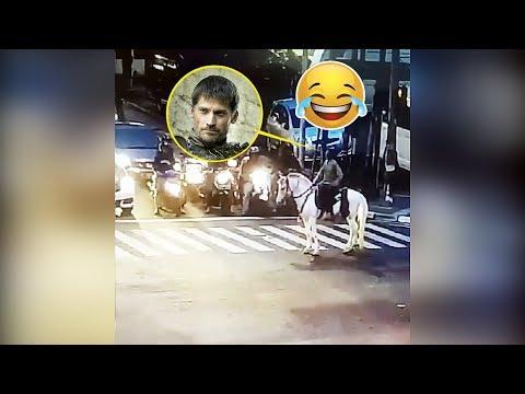 'Pangeran Berkuda' Celingukan saat Ditegur CCTV Bersuara di Bandung, Lihat Tingkahnya!