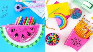 COOL & FUN SCHOOL HACKS !12 Crafts For Cool School