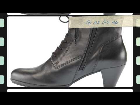 Übergrößen Schuh des Tages   XXL Damen Gabor Stiefelette in schwarz - schuhplus