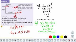Eğitim Vadisi 11.Sınıf Fizik 8.Föy İki Boyutta Sabit İvmeli Hareket 1 Konu Anlatım Videoları