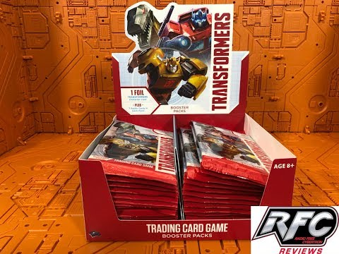 Transformers TCG (Trading Card Game) Booster Pack Box From Wizards Of The Coast Unboxing