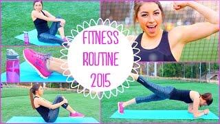 Fitness Routine 2015 | No Equipment Needed + Fast Abs!