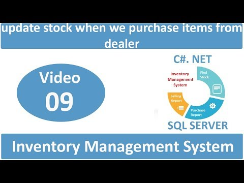 how to update stock when we purchase items from dealer